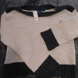 Apt 9 Tan and Grey Sweater sz L